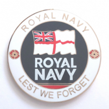 Royal Navy 'Lest We Forget' Service Personel Remembrance Coin - Boxed